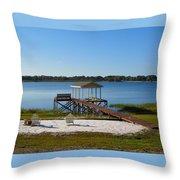 Serenity At The Lake Throw Pillow