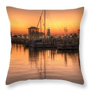 Serenity Harbor 4 Throw Pillow