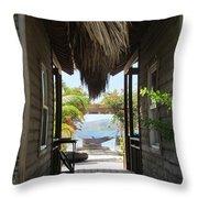 Serenity Of Roatan Throw Pillow