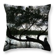 Serenity On The River Throw Pillow