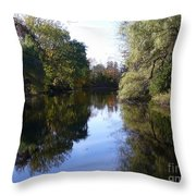 Serenity Pond Reflection At Limehouse Ontario Throw Pillow