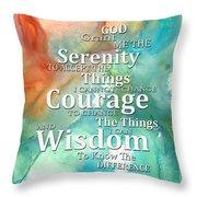 Serenity Prayer 1 - By Sharon Cummings Throw Pillow