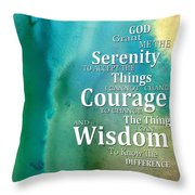 Serenity Prayer 2 - By Sharon Cummings Throw Pillow