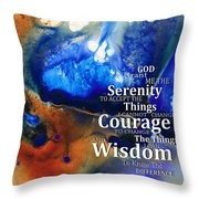Serenity Prayer 4 - By Sharon Cummings Throw Pillow