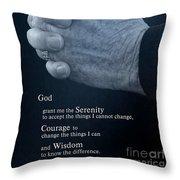 Serenity Prayer Finding Peace Throw Pillow