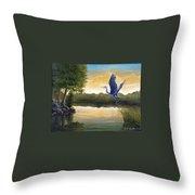 Serenity Throw Pillow by Rick Huotari