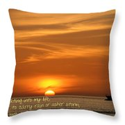 Serenity Sunset Throw Pillow