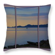 Serenity Tryptych Throw Pillow
