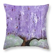 Serenity Willow Throw Pillow by Laura Charlesworth
