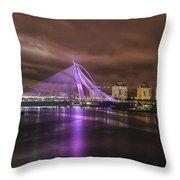 Seri Wawasan Bridge At Night Throw Pillow