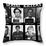 Serial Killers - Public Enemies Throw Pillow