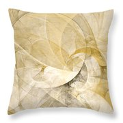 Series Abstract Art In Earth Tones 1 Throw Pillow
