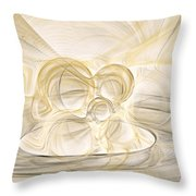 Series Abstract Art In Earth Tones 2 Throw Pillow