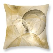 Series Abstract Art In Earth Tones 3 Throw Pillow