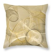 Series Abstract Art In Earth Tones 4 Throw Pillow