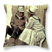 Serious Conversation Throw Pillow