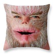 Serious Harry Throw Pillow