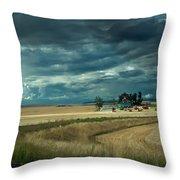 Serious Working Farm Throw Pillow