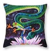 Serpent In The Garden Throw Pillow