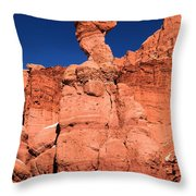 Serpent On The Cliff Throw Pillow