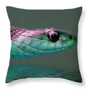Serpent Profile 2 Throw Pillow