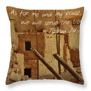 Serve The Lord Throw Pillow
