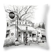 Service Station Throw Pillow
