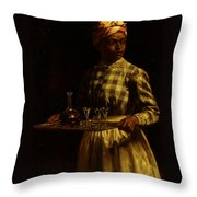 Serving Maid Throw Pillow