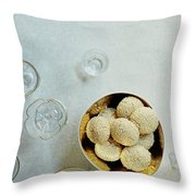 Sesame Cookies Throw Pillow