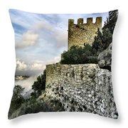 Sesimbra Castle Throw Pillow