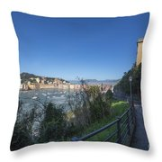 Sestri Levante And A Street Throw Pillow