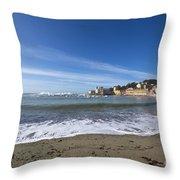 Sestri Levante And Beach Throw Pillow