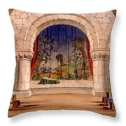 Set Design For Hamlet By William Throw Pillow