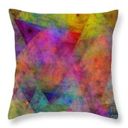 Set Sails On The Open Sea Abstract Throw Pillow