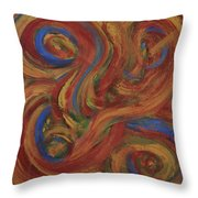 Set To Music - Original Abstract Painting Painting - Affordable Art Throw Pillow