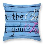 Set You Free Throw Pillow