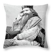 Seth Kinman (1815-1888) Throw Pillow