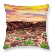Sets In The West Throw Pillow
