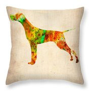 Setter Pointer Poster Throw Pillow by Naxart Studio
