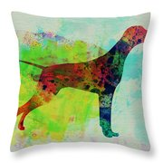 Setter Pointer Watercolor Throw Pillow