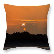 Setting Beauty Throw Pillow