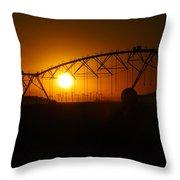 Setting On Rural America Throw Pillow