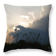 Setting Rays At Sand Dunes Throw Pillow