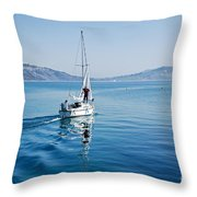 Setting The Sails Throw Pillow