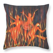 Setting The Stage On Fire Throw Pillow