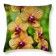 Seven Blooms Throw Pillow