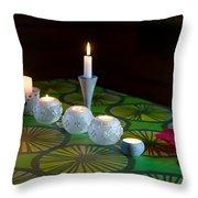 Seven Candles Throw Pillow