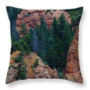 Seven Falls Mountain's Colorado Throw Pillow by Robert D  Brozek