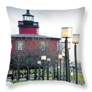 Seven Foot Knoll Lighthouse Throw Pillow