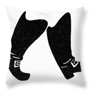 Seven League Boots Throw Pillow